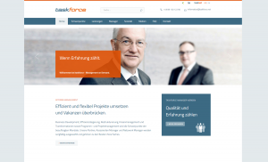 Die neue Website der taskforce Management on Demand AG
