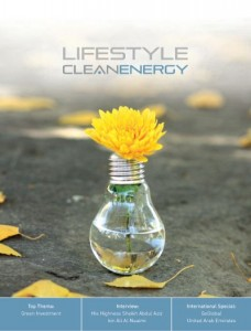 "LIFESTYLE clean energy – aktuelle Ausgabe mit Top Thema ""Green Investment"""