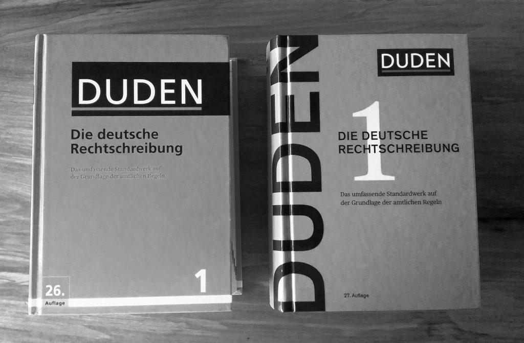 Duden: Die Deutsche Rechtsschreibung, Auflage 26 und 27