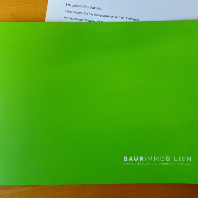 Aus dem Lektorat: Immobilien-Broschüre mit gehobener Ausstattung